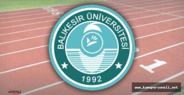 Balıkesir Üniversitesi Akademik Personel Alımı İlanı