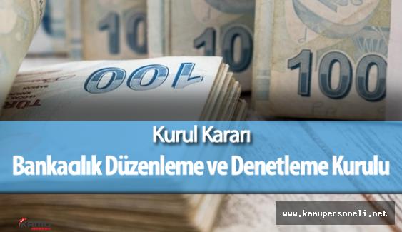 Bankacılık Düzenleme ve Denetleme Kurulunun 27 Nisan 2016 Tarihli Kararı