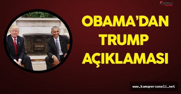Barrack Obama'dan Trump Açıklaması