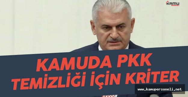 Başbakan'dan 'Kamudaki PKK Temizliği Sürecek' Mesajı