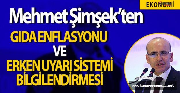 Başbakan Yardımcısı Mehmet Şimşek Gıda Enflasyonuna İlişkin Açıklamalarda Bulundu