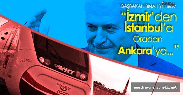 """Başbakan Yıldırım'dan Hızlı Tren Açıklaması : """" 3 Büyük şehir 10 Saatte gezilebilecek"""""""