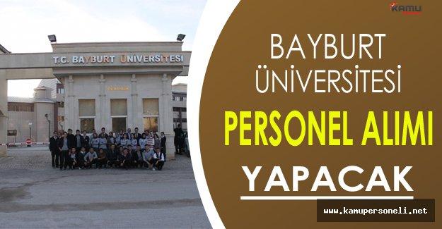 Bayburt Üniversitesi Personel Alım İlanı