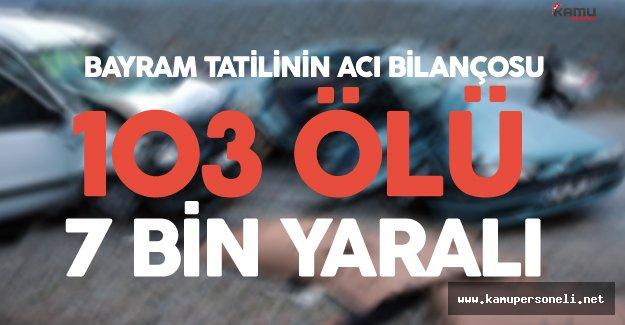 Bayram Tatilinin Acı Bilançosu: 103 Ölü, 7 bin 175 Yaralı