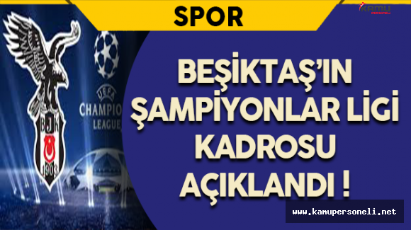 UEFA Ligi İçin Beşiktaş Kadrosu Belli Oldu