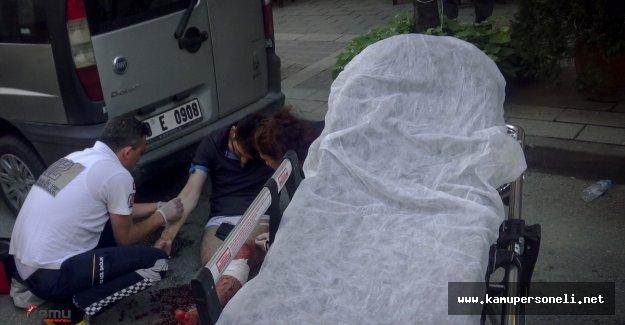 Bıçaklanan Kişi Yardım İçin Metrelerce Yaralı Olarak Süründü