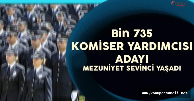 Bin 735 Komiser Yardımcısı Mezuniyet Sevinci Yaşadı