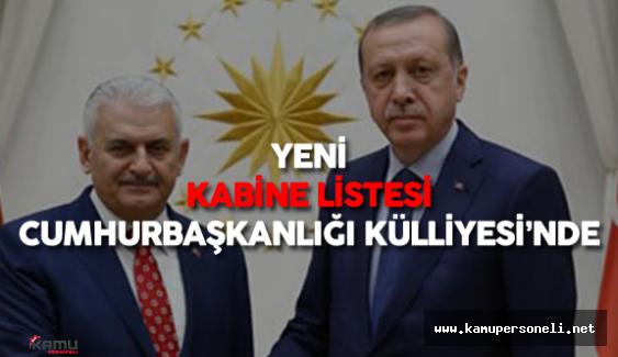 Yeni Kabine Listesi (65.Hükümet) Cumhurbaşkanı Erdoğan'ın Onayına Sunuldu