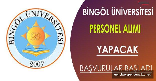 Bingöl Üniversitesi Personel Alacak