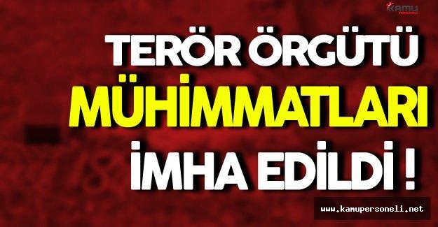 Bitlis'de Terör Örgütünün Mühimmatları İmha Edildi
