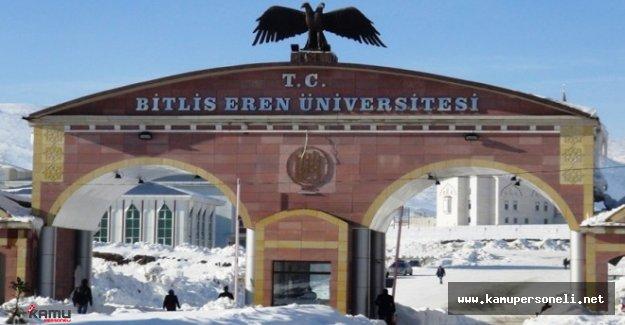 Bitlis Eren Üniversitesi Akademik Personel Alımı