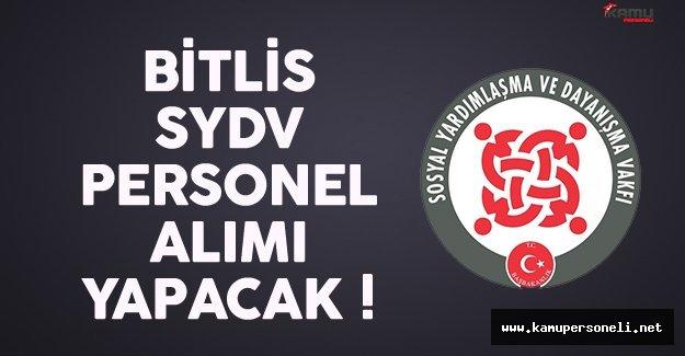 Bitlis SYDV kamu personeli alımı için son gün 28 Aralık