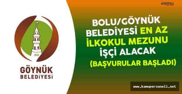 Bolu Göynük Belediyesi En Az İlkokul Mezunu İşçi Alacak