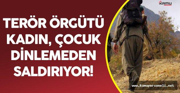 Bölücü Terör Örgütü PKK Yine Sivilleri Hedef Aldı