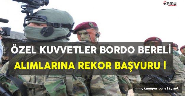 Bordo Bereli Alımlarına Rekor Sayıda Başvuru Yapıldı !