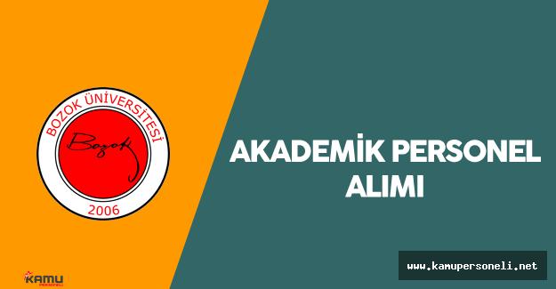 Bozok Üniversitesi Akademik Personel Alımı Yapacak