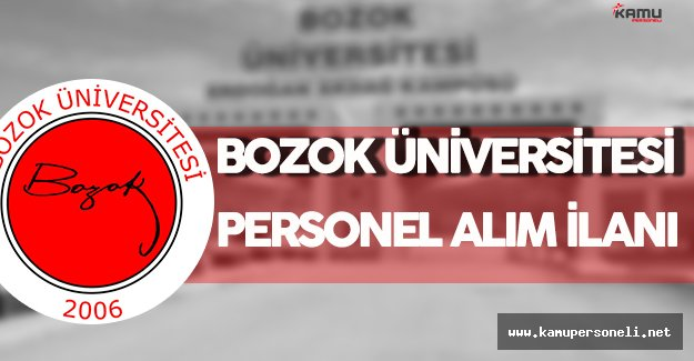 Bozok Üniversitesi Personel Alım İlanı