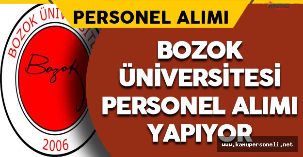 Bozok Üniversitesi Personel Alımı Yapıyor