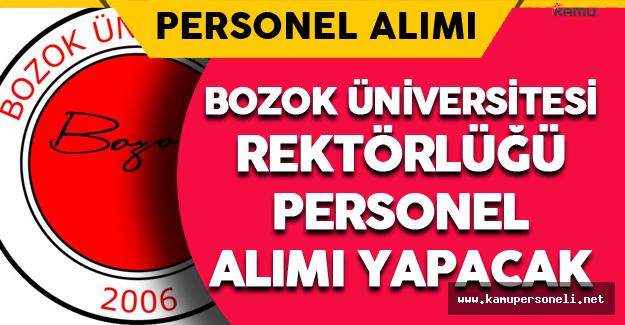 Bozok Üniversitesi Rektörlüğü Personel Alımı Yapacak
