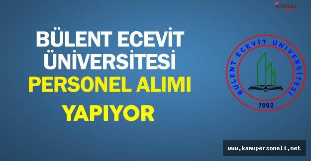 Bülent Ecevit Üniversitesi Personel Alımı Yapıyor