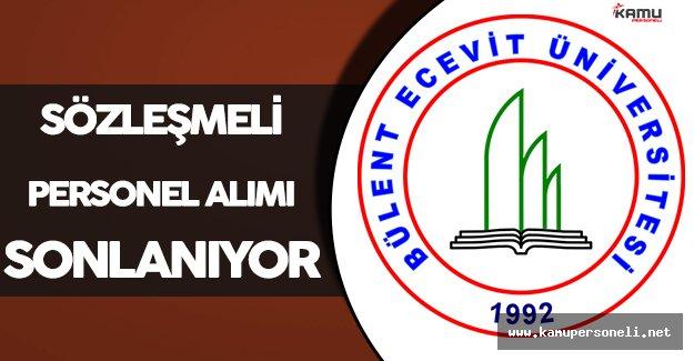 Bülent Ecevit Üniversitesi Sözleşmeli Personel İlanına Başvurular Sonlanıyor