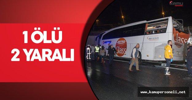 Büyük İstanbul Otogarı'nda Feci Kaza ! 1 Ölü 2 Yaralı