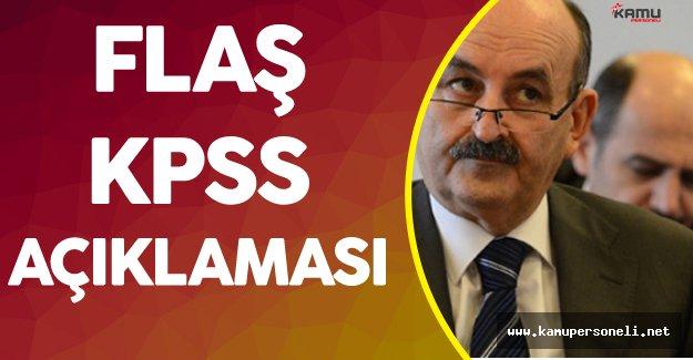 Çalışma Bakanı'ndan Flaş KPSS Açıklaması ( Sistem Değişiyor)