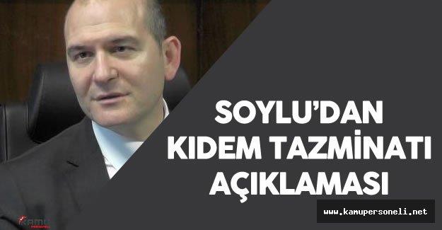 Çalışma Bakanı Soylu'dan Son Dakika Kıdem Tazminatı Açıklaması