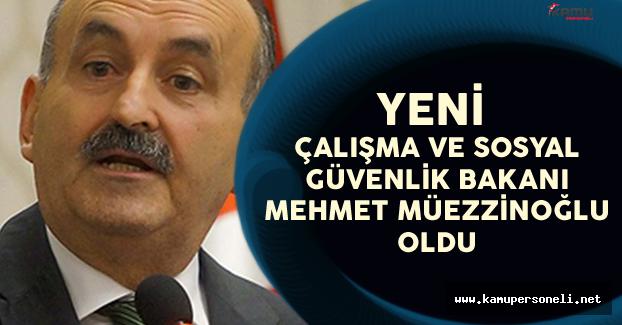 Çalışma ve Sosyal Güvenlik Bakanlığı'na Mehmet Müezzinoğlu Atandı
