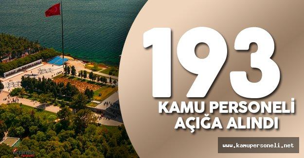 Çanakkale'de 193 Kamu Personeli Görevden Uzaklaştırıldı
