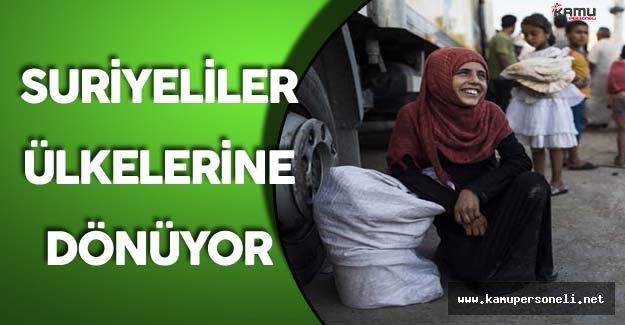 Cerablus'a Dönen Suriyeli Sayısı 3 Bini Geçti