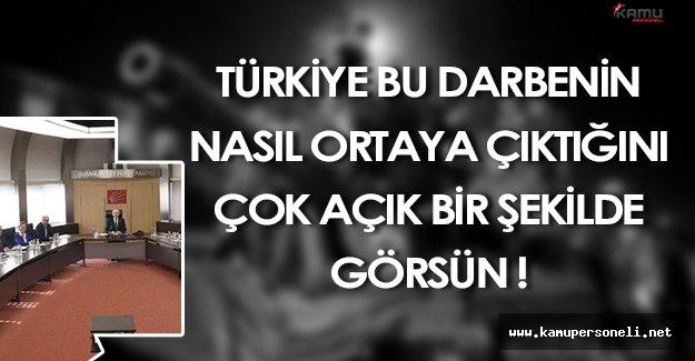 """CHP Genel Başkan Yardımcısı Böke: """" Türkiye bu darbenin nasıl ortaya çıktığını çok açık bir şekilde görsün """""""