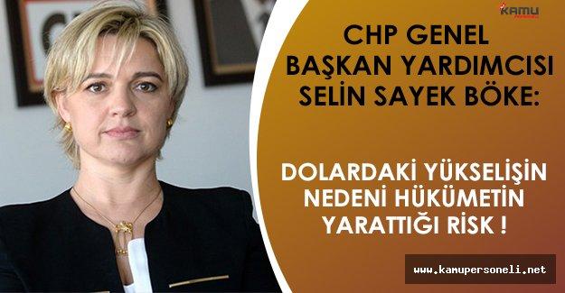 """CHP Genel Başkan Yardımcısı Selin Sayek Böke: """"Doların yükselmesinin nedeni hükümetin yarattığı risk."""""""