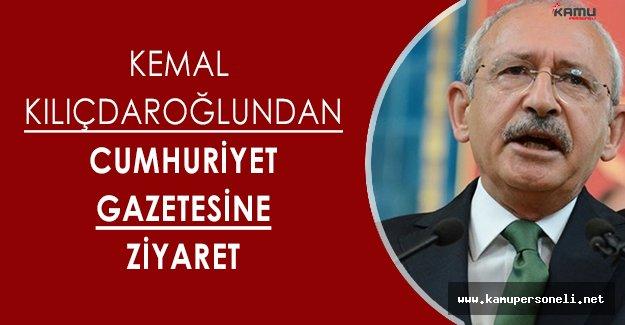 CHP Genel Başkanı Kemal Kılıçdaroğlundan, Cumhuriyet Gazetesine Ziyaret