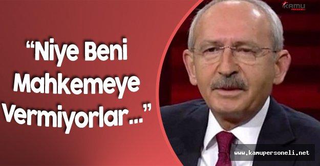 """CHP Genel Başkanı Kılıçdaroğlu:""""Beni Mahkemeye Verin"""""""