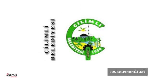 Çilimli Belediyesi Geçici Personel Alımı İlanı