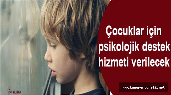Çocuklar İçin Gönüllü Psikolojik Destek Hizmeti Verilecek