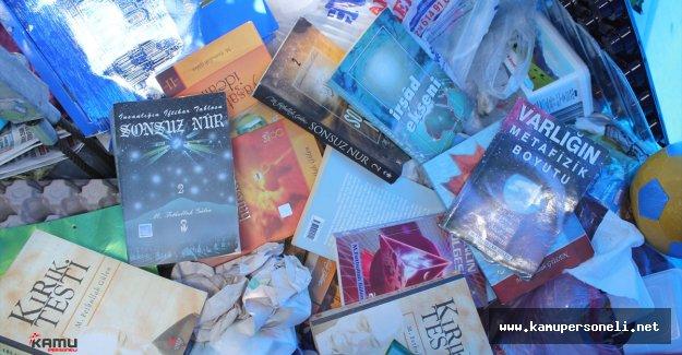 Çöp Konteynerinde Fettullah Gülene Ait Yayınlar Bulundu