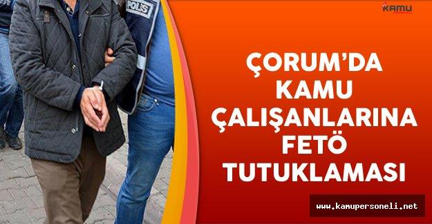 Çorum'da Kamu Çalışanlarına FETÖ Tutuklaması