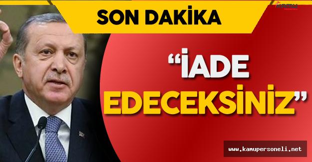 """Cumhurbaşkanı Erdoğan'dan Biden'e FETÖ'nün İadesi Konusunda: """" Şöyledir, Böyledir Deme Hakkınız Yok"""""""