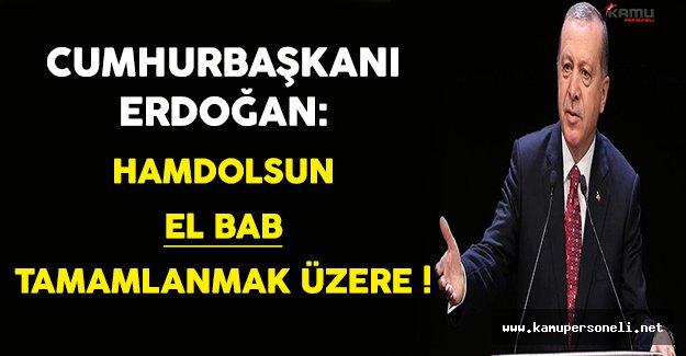 Cumhurbaşkanı Erdoğan'dan Önemli El Bab Açıklaması