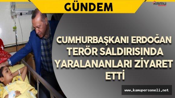 Cumhurbaşkanı Erdoğan Terör Saldırısında Yaralananları Ziyaret Etti