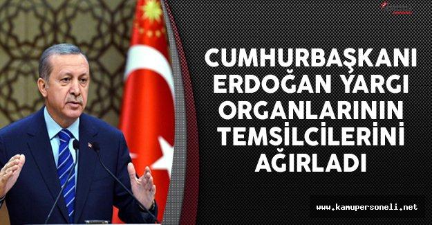 Cumhurbaşkanı Erdoğan Yargı Organlarının Temsilcileriyle Bir Araya Geldi