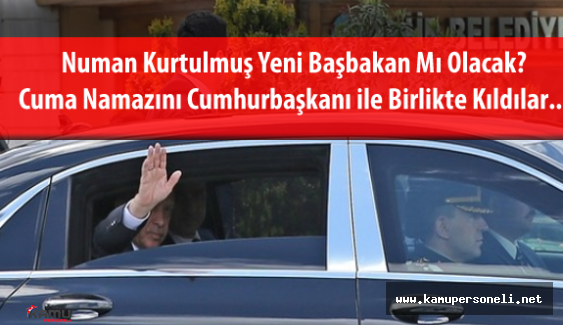Cumhurbaşkanı Recep Tayyip Erdoğan ve Başbakan Yardımcısı Numan Kurtulmuş Cuma Namazında