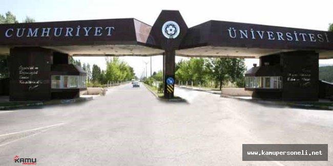Cumhuriyet Üniversitesi 6 Akademik Personel Alımı