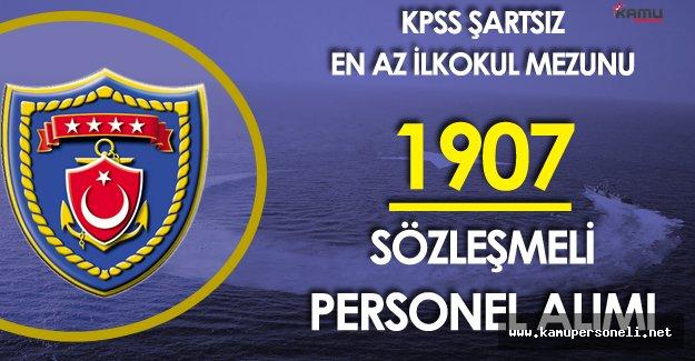 Deniz Kuvvetleri Komutanlığı En Az İlkokul Mezunu Sözleşmeli Personel Alımı Başvurular Sürüyor