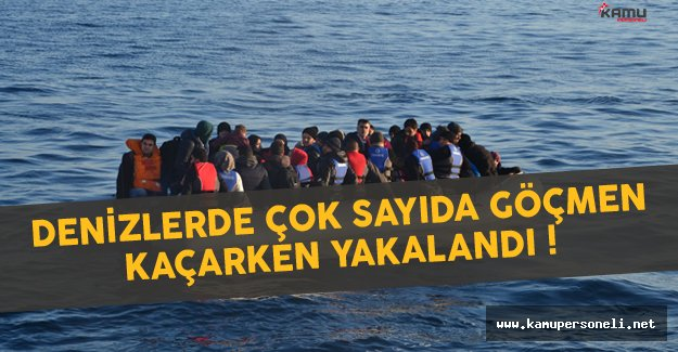 Denizlerde Çok Sayıda Göçmen Yakalandı
