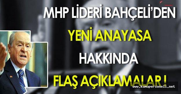 Devlet Bahçeli'den Çok Önemli Yeni Anayasa Açıklaması!