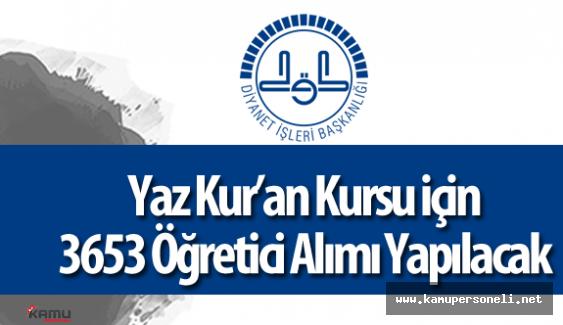 DİB İstanbul Müftülüğü 3653 Kur'an Kursu Öğreticisi Alımı Başvurular Devam Ediyor