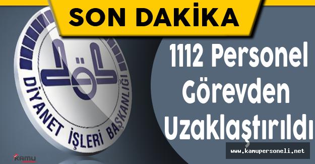 Diyanet'te 1112 personel görevden uzaklaştırıldı